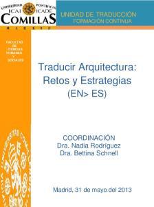 Traducir Arquitectura: Retos y Estrategias