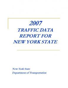 TRAFFIC DATA REPORT FOR NEW YORK STATE