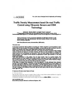 Traffic Density Measurement based On-road Traffic Control using Ultrasonic Sensors and GSM Technology
