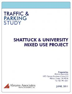 TRAFFIC & PARKING STUDY