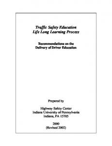 Traffic Safety Education Life Long Learning Process