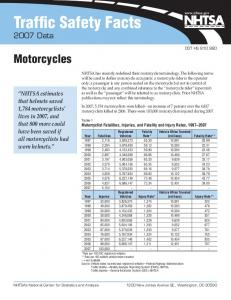 Traffic Safety Facts 2007 Data