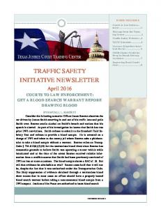 TRAFFIC SAFETY INITIATIVE NEWSLETTER
