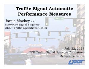 Traffic Signal Automatic Performance Measures