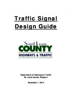Traffic Signal Design Guide