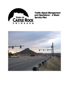 Traffic Signal Management and Operations: A Basic Service Plan