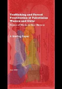 Trafficking and Forced Prostitution of Palestinian Women and Girls: