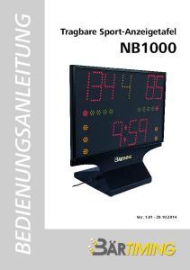 Tragbare Sport-Anzeigetafel NB1000