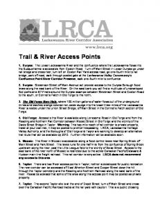 Trail & River Access Points