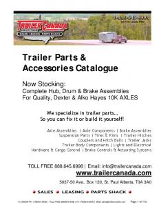 Trailer Parts & Accessories Catalogue