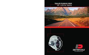 TRAILER RUNNING GEAR ,000 lbs. Capacity