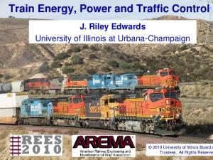 Train Energy, Power and Traffic Control