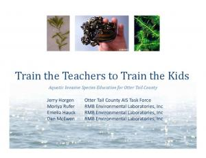 Train the Teachers to Train the Kids