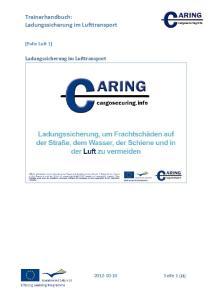 Trainerhandbuch: Ladungssicherung im Lufttransport
