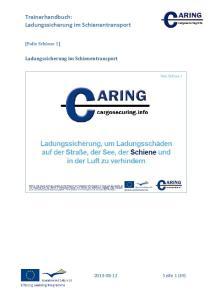 Trainerhandbuch: Ladungssicherung im Schienentransport