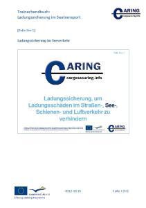 Trainerhandbuch: Ladungssicherung im Seetransport