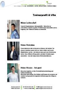 Trainerprofil & Vita