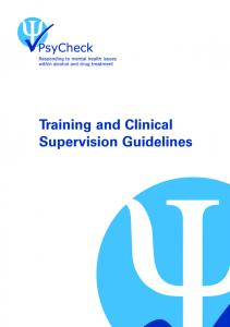 Training and Clinical Supervision Guidelines