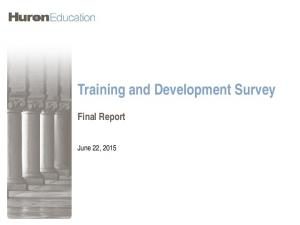 Training and Development Survey Final Report