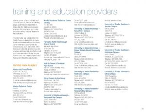 training and education providers