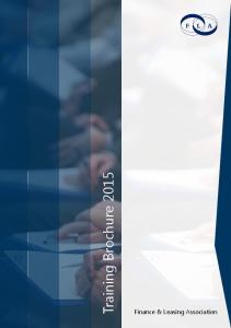 Training Brochure Finance & Leasing Association