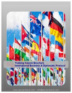 Training Course Brochure International Business & Diplomatic Protocol
