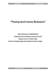 Training durch interne Realisation