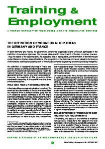 Training & Employment
