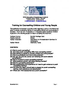 Training for Counselling Children and Young People