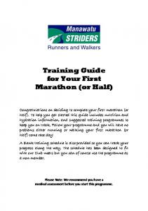 Training Guide for Your First Marathon (or Half)