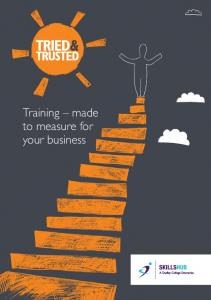 Training made to measure for your business