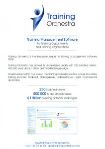 Training Management Software For Training Departments And Training Organisations