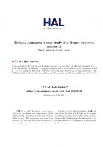 Training managers: a case study of a French corporate university