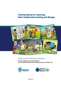 Training Manual for Improving Grain Postharvest Handling and Storage