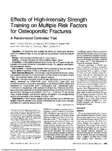 Training on Multiple Risk Factors
