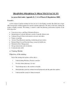 TRAINING PHARMACY PRACTICE FACULTY