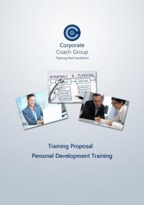Training Proposal Personal Development Training