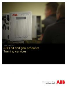 Training schedule ABB oil and gas products Training services