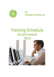 Training Schedule UK and Ireland 2015