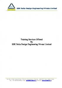 Training Services Offered By SSK Delta Design Engineering Private Limited