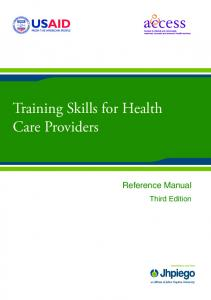 Training Skills for Health Care Providers
