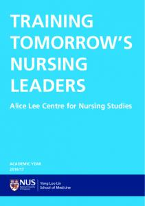 TRAINING TOMORROW S NURSING LEADERS