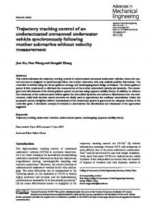 Trajectory tracking control of an underactuated unmanned underwater vehicle synchronously following mother submarine without velocity measurement