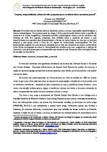 Trajetos, temporalidades, relatos de vida: propostas para um debate sobre narrativas juvenis 1