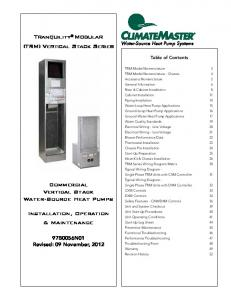 Tranquility Modular (TRM) Vertical Stack Series