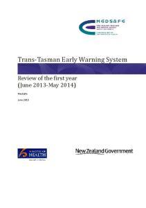 Trans-Tasman Early Warning System