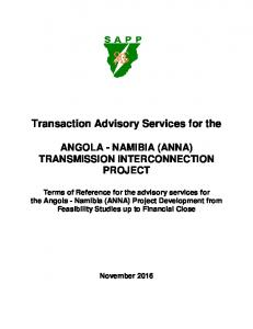 Transaction Advisory Services for the