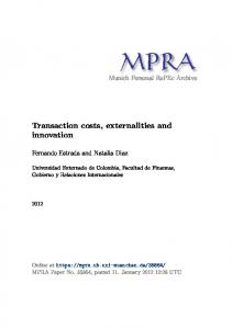 Transaction costs, externalities and innovation