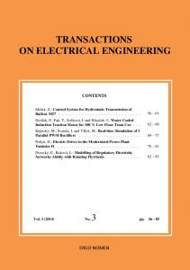 TRANSACTIONS ON ELECTRICAL ENGINEERING