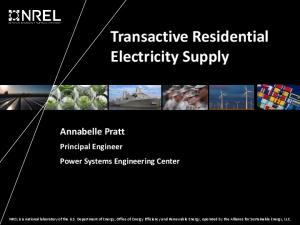 Transactive Residential Electricity Supply